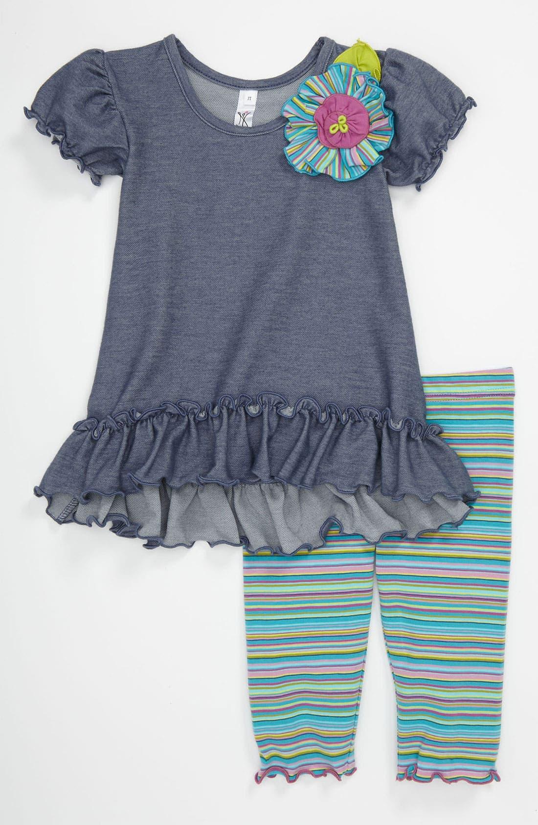 Alternate Image 1 Selected - Love U Lots Tunic & Leggings (Toddler)
