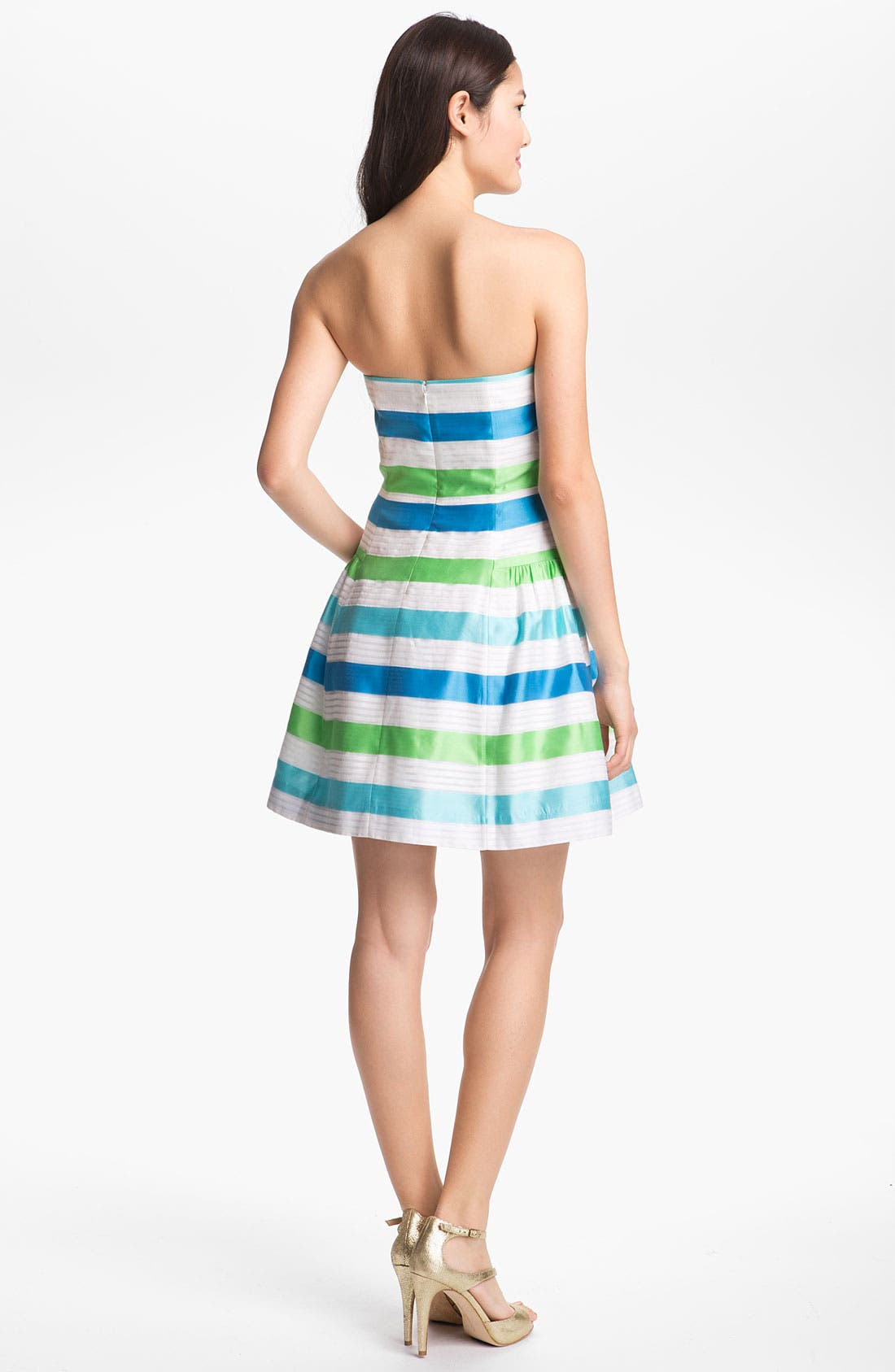 Alternate Image 2  - Lilly Pulitzer® Stripe Strapless Fit & Flare Dress