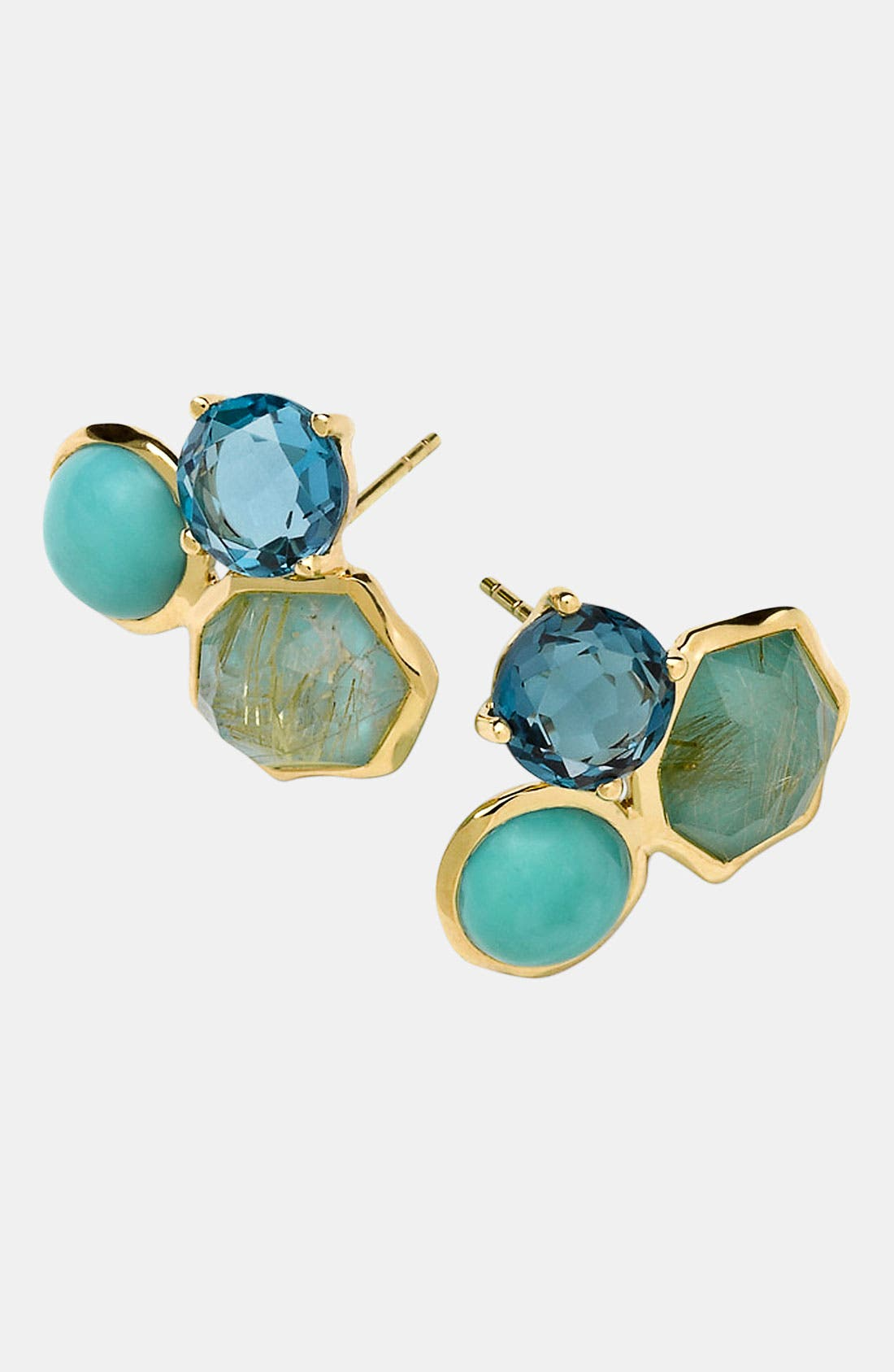 Alternate Image 1 Selected - Ippolita 'Rock Candy' 3-Stone 18k Gold Stud Earrings