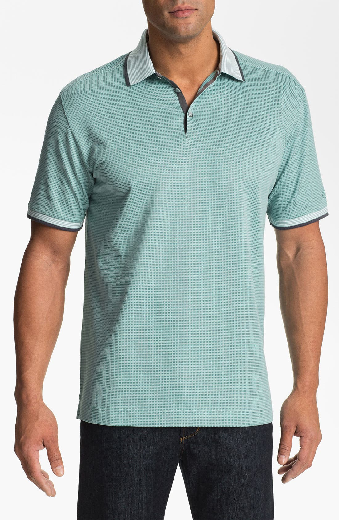 Main Image - Cutter & Buck 'Luxe - Shaw' DryTec Golf Polo (Big & Tall) (Online Only)