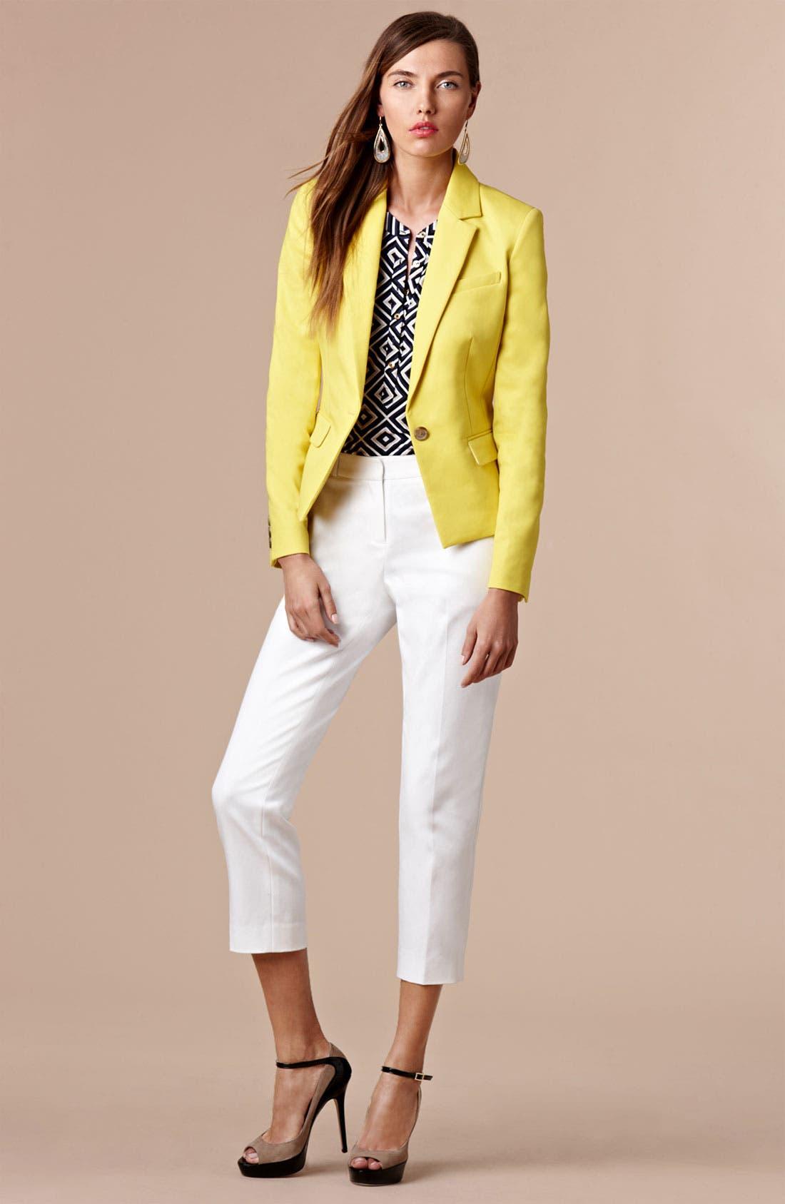 Main Image - Anne Klein Blazer, Top & Crop Pants