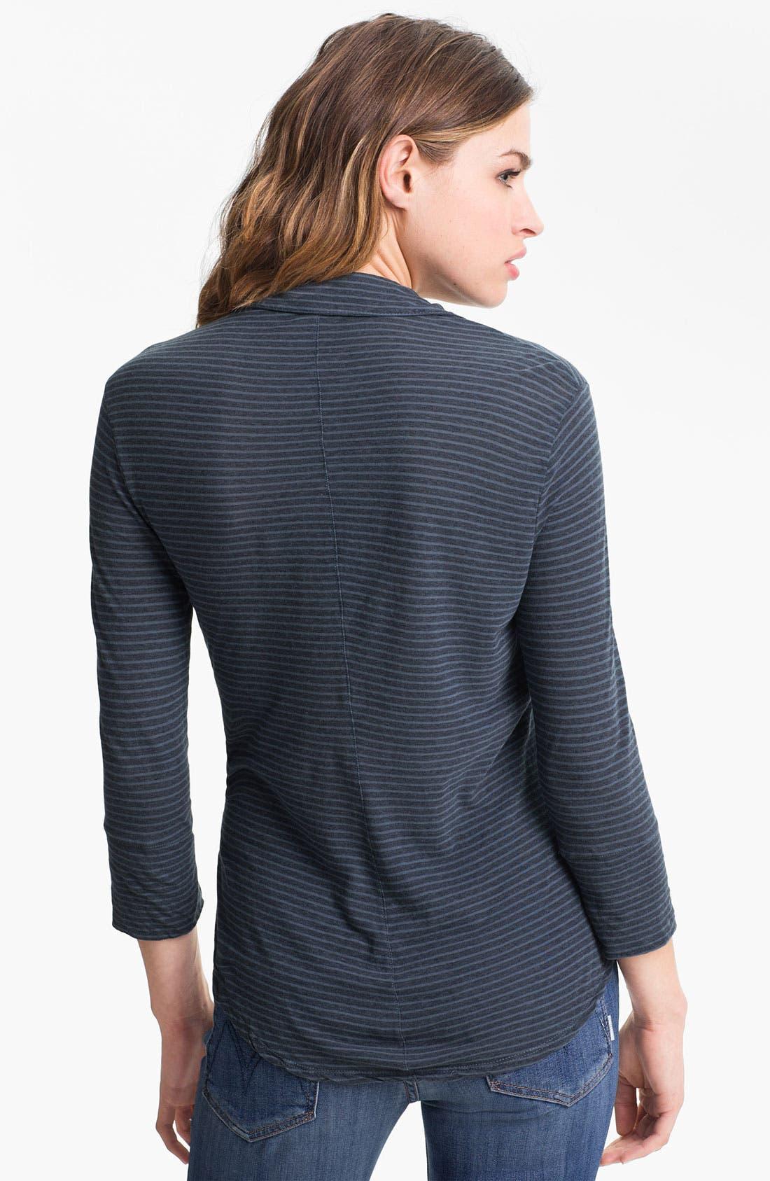 Alternate Image 2  - James Perse Stripe Jersey Shirt