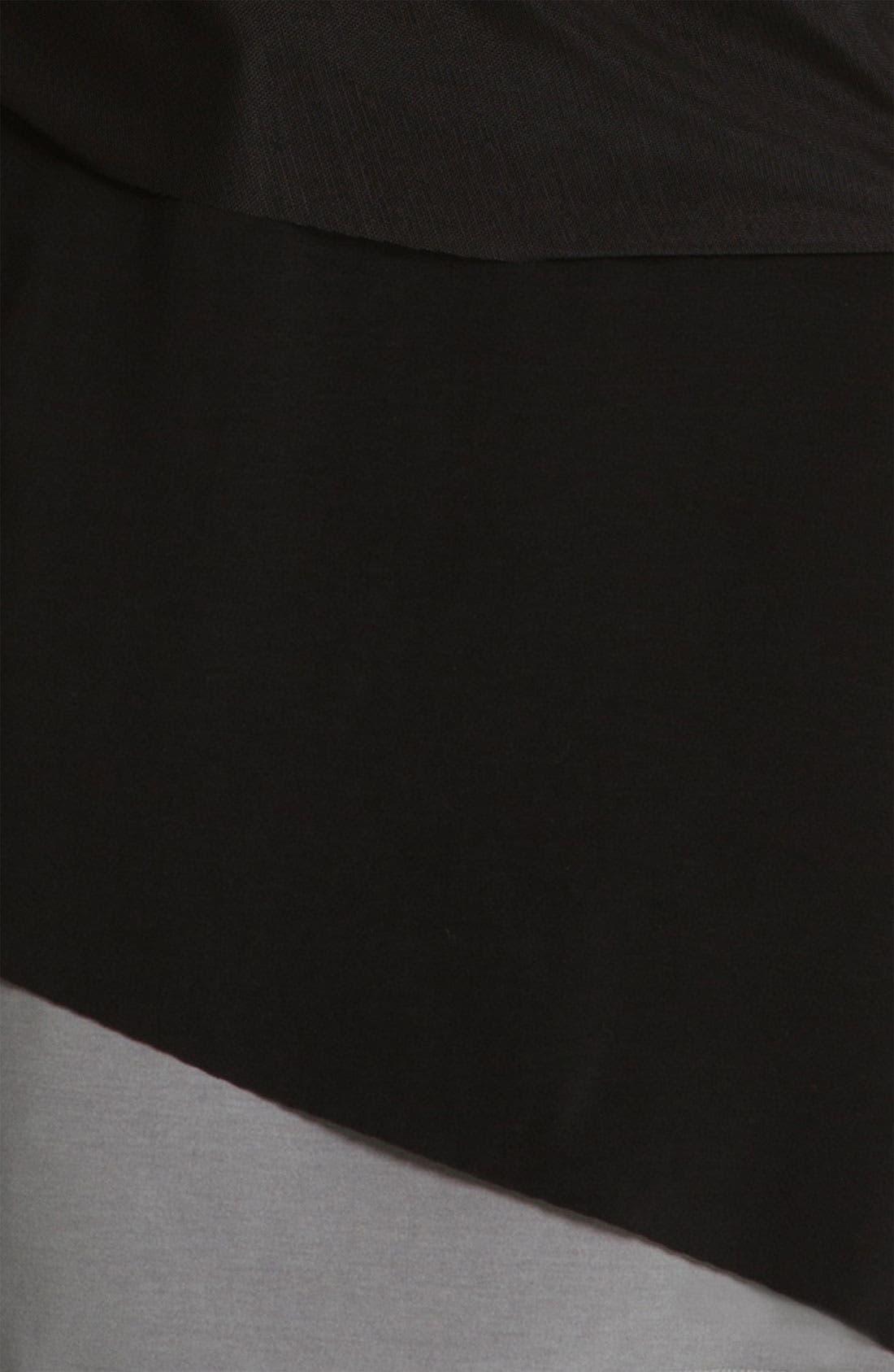 Alternate Image 3  - Alex & Ava Surplice Mesh & Jersey Dress (Petite)