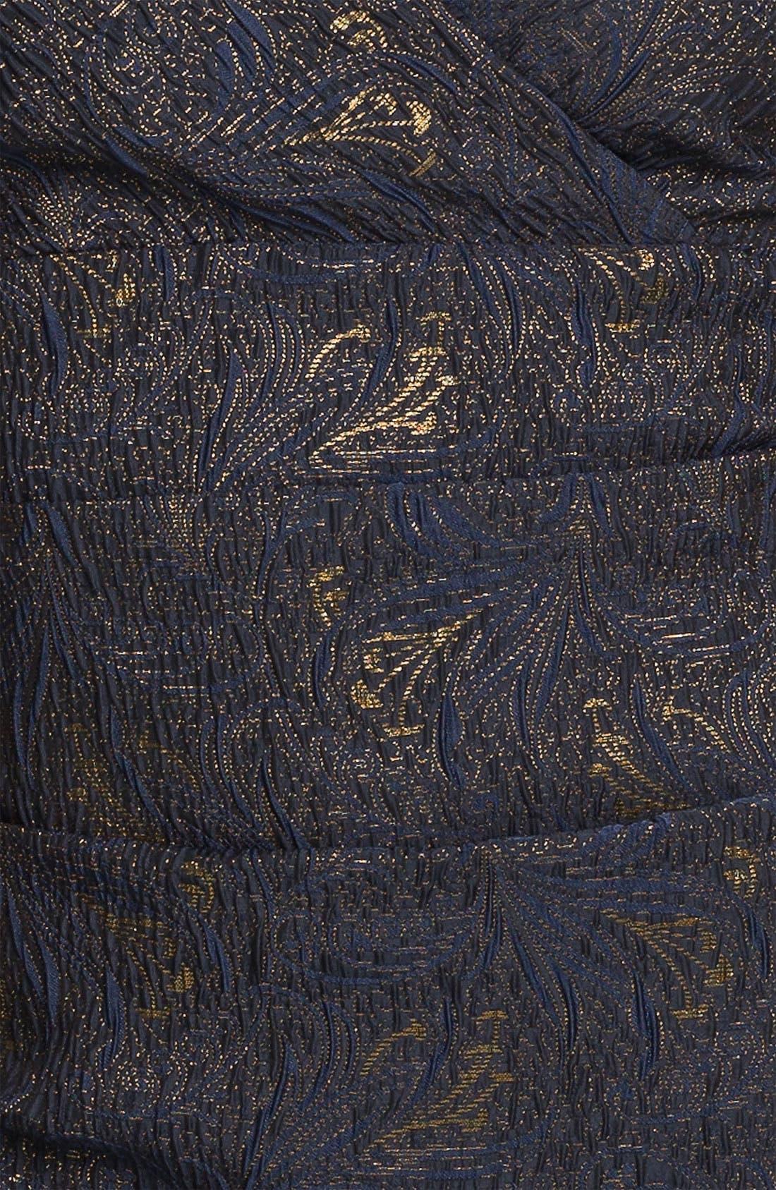 Alternate Image 3  - Alex Evenings Ruched Textured Sheath Dress (Petite)