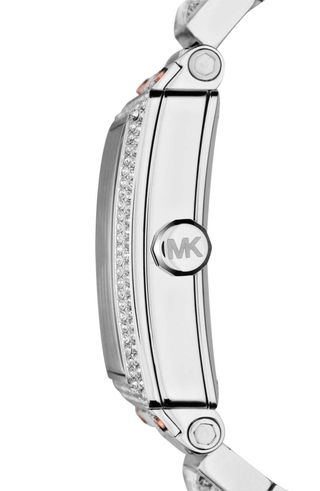 Alternate Image 2  - Michael Kors 'Uptown' Baguette Crystal Square Case Watch