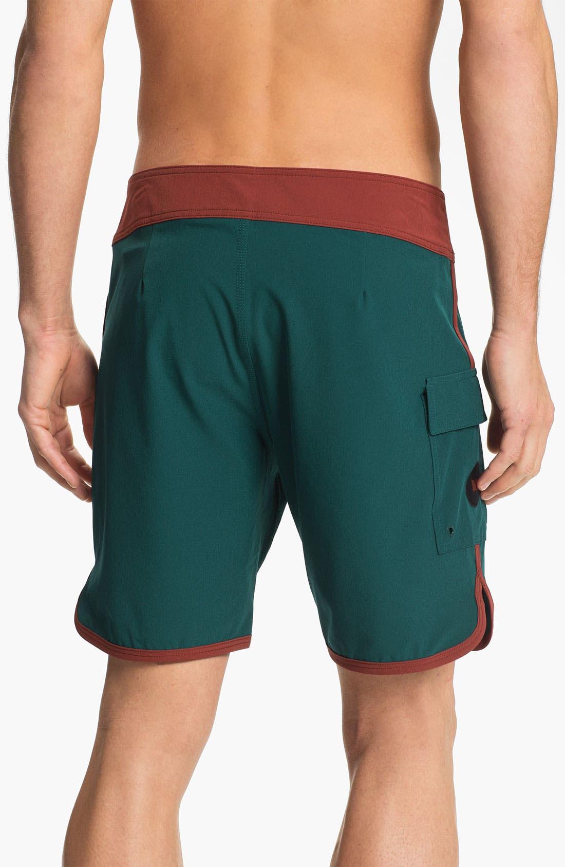 Alternate Image 2  - RVCA 'Eastern' Scalloped Hem Board Shorts