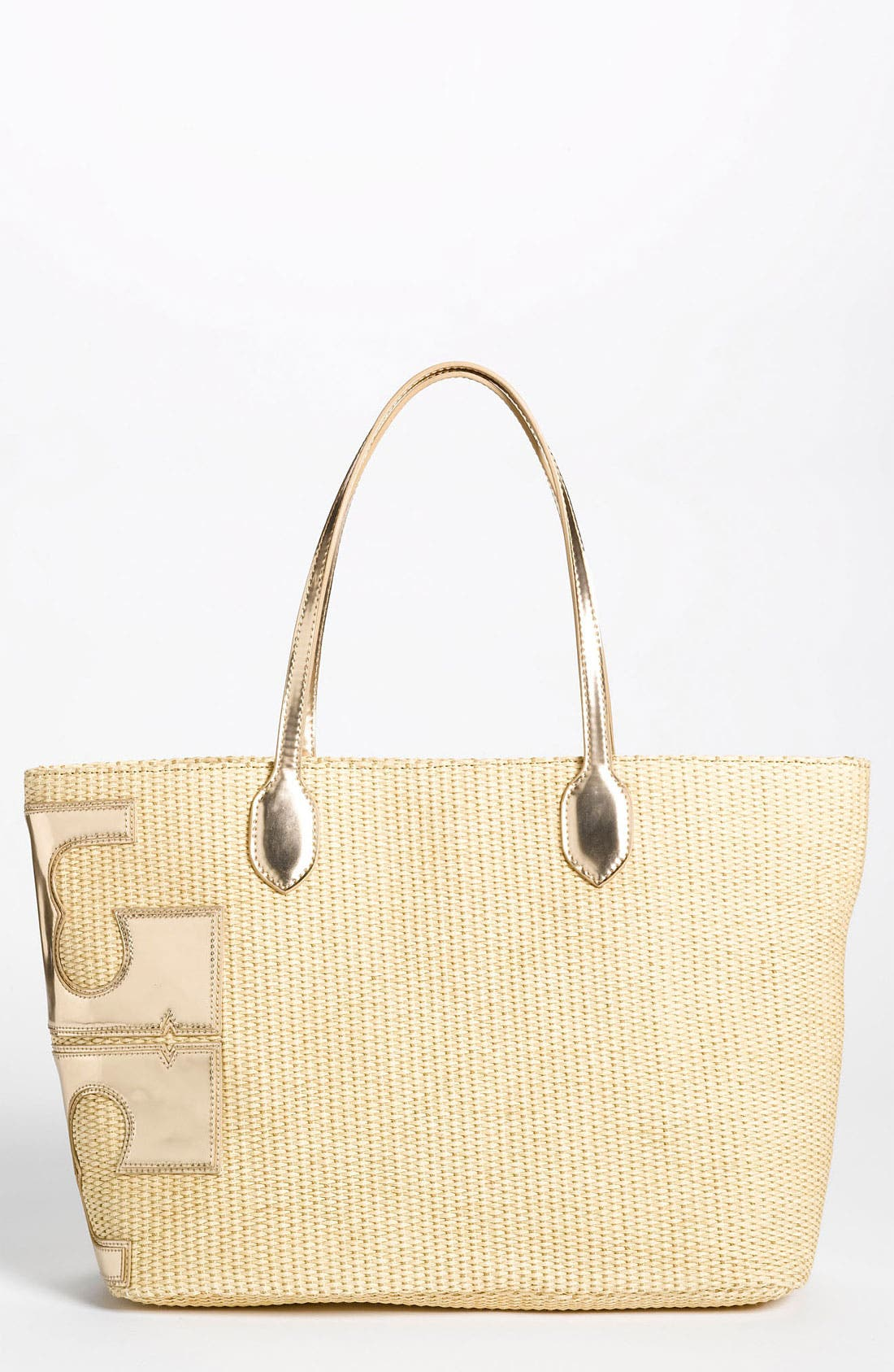 Main Image - Tory Burch 'Metallic Stacked T' Tote, Large