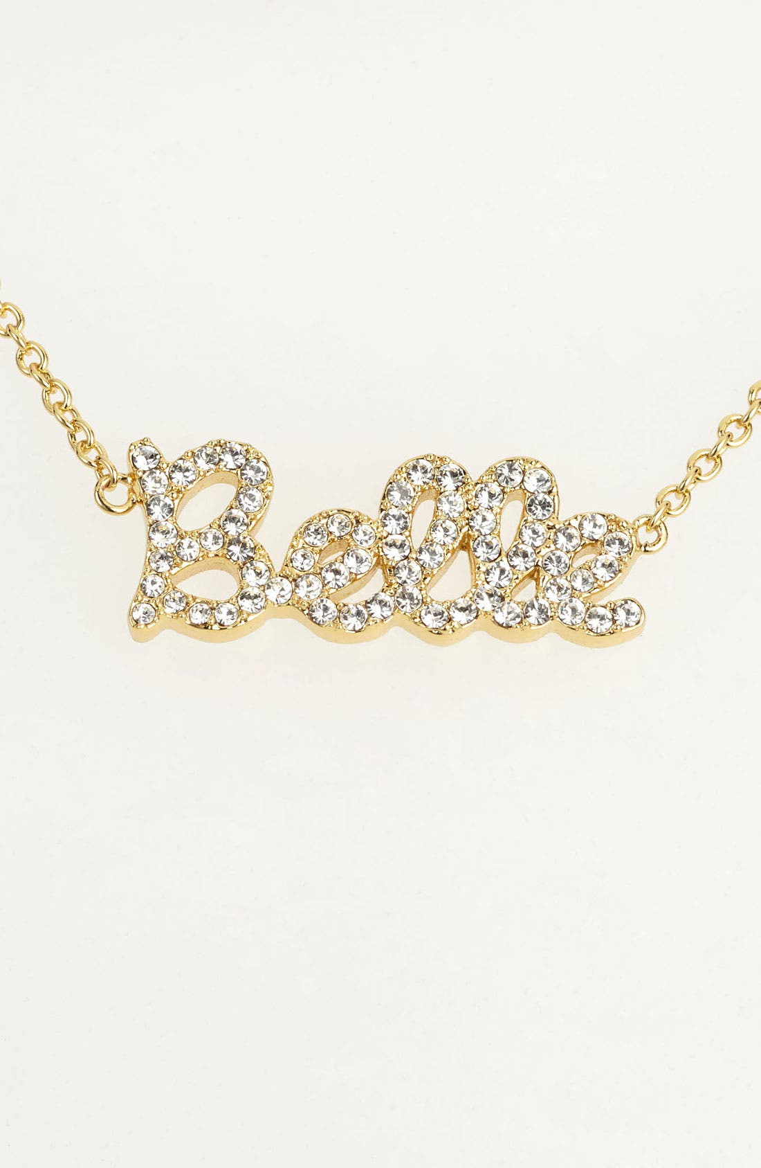 Main Image - Ariella Collection 'Messages - Belle' Script Pendant Necklace