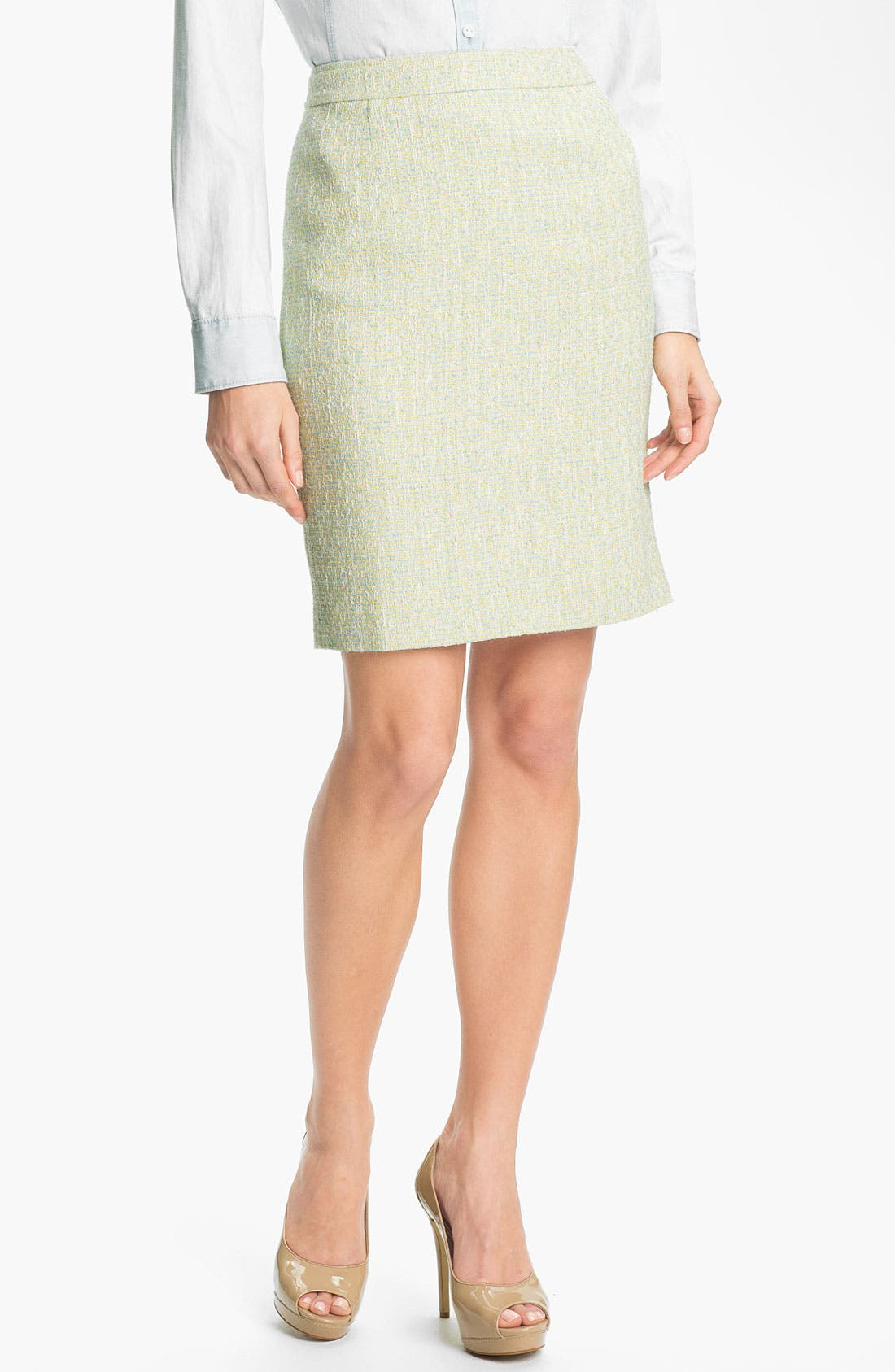 Alternate Image 2  - Halogen® Tweed Pencil Skirt