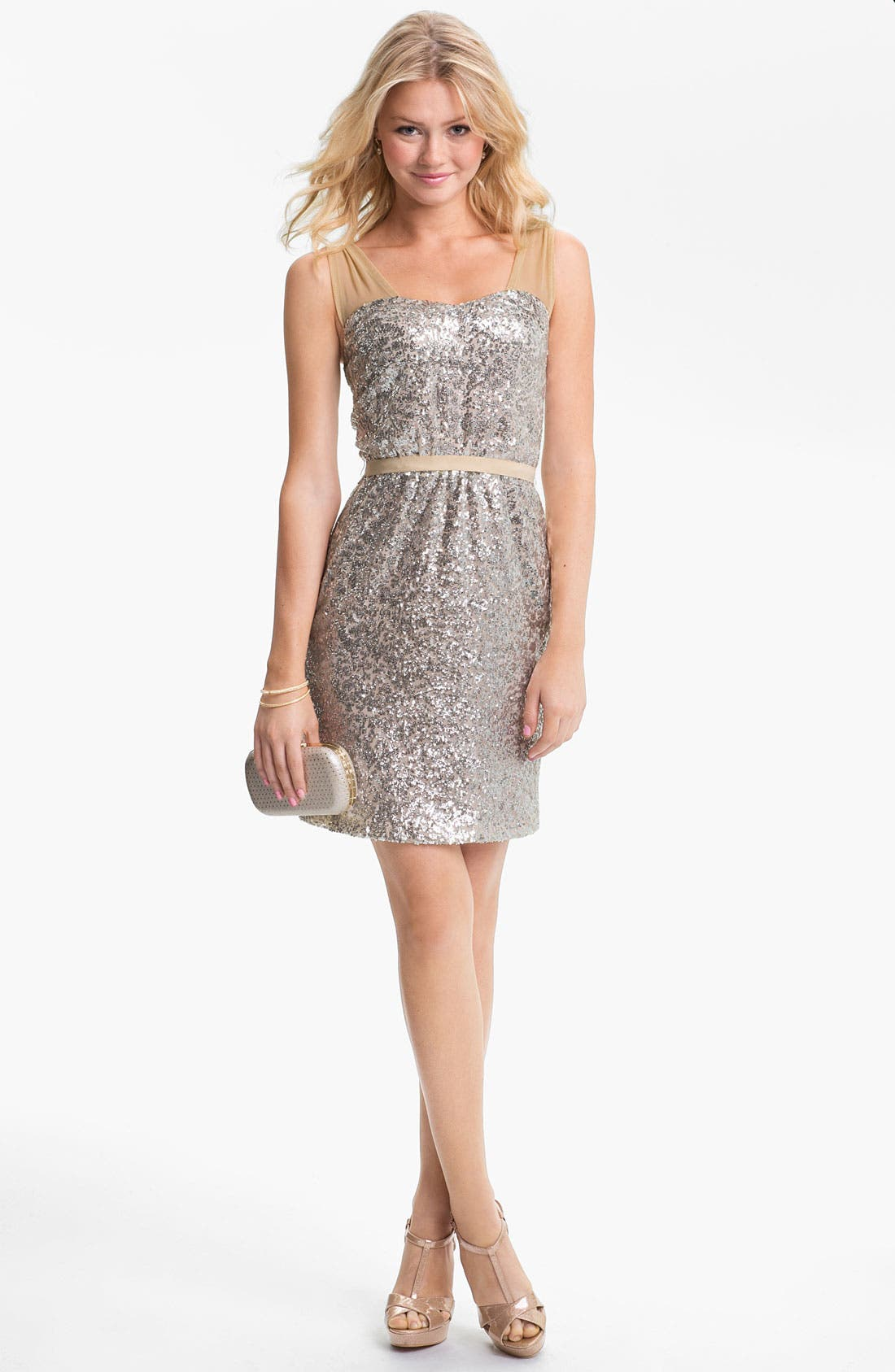 Main Image - ERIN erin fetherston Sequin Mesh Dress