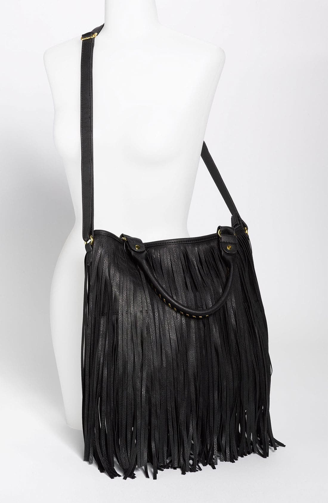Alternate Image 2  - BP. Faux Leather Fringe Hobo Bag