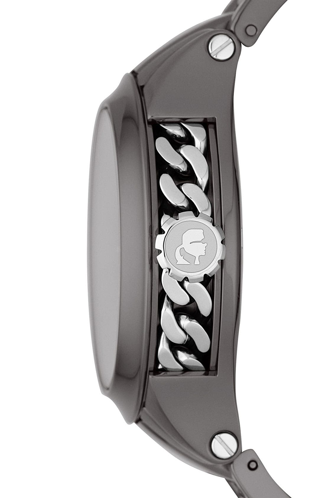 Alternate Image 2  - KARL LAGERFELD Chain Detail Bracelet Watch, 40mm