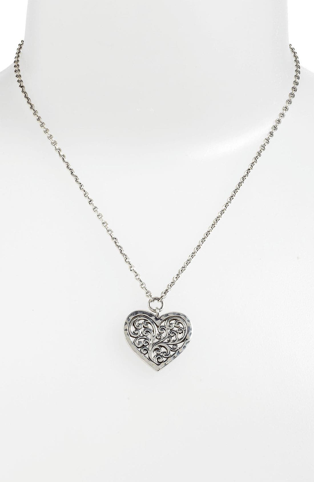 Alternate Image 1 Selected - Lois Hill Heart Pendant Necklace
