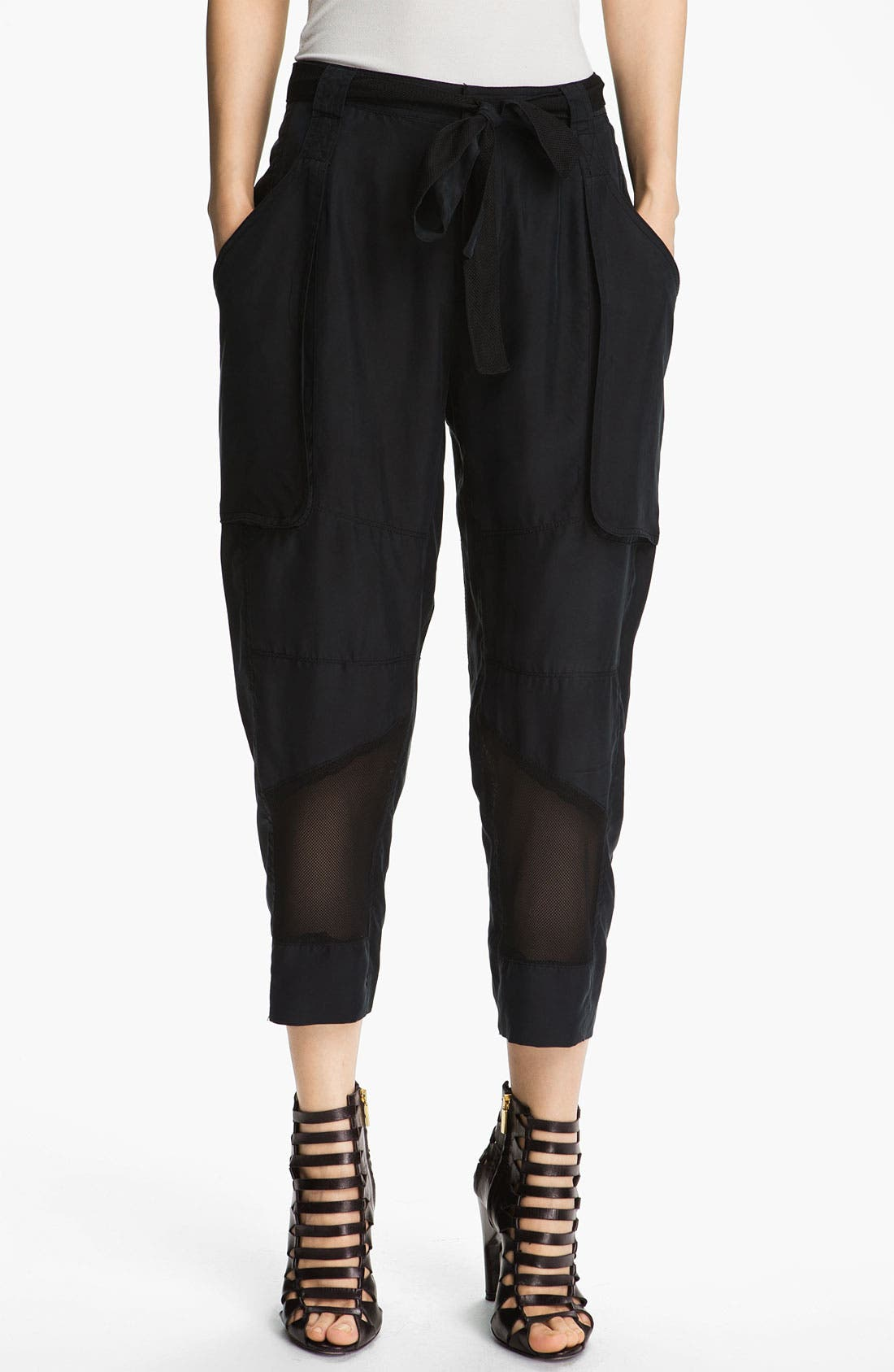 Alternate Image 1 Selected - Edun Mesh Trim Silk Cargo Pants