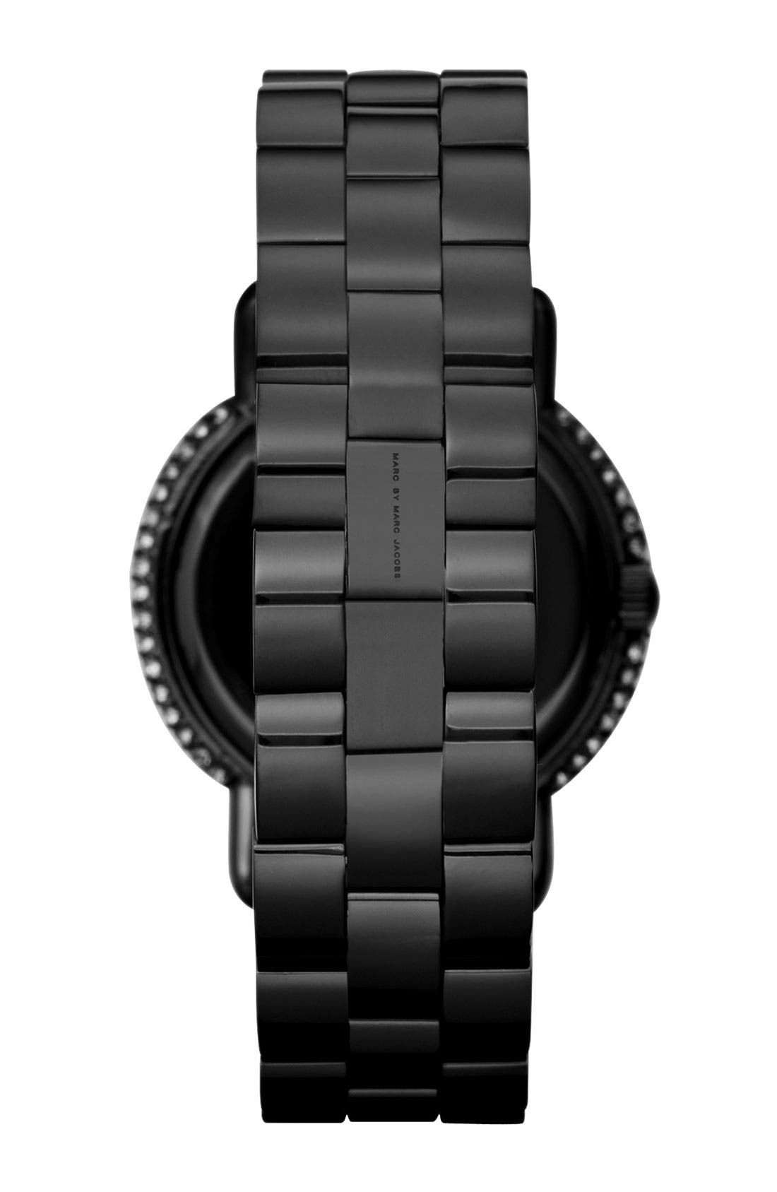 Alternate Image 3  - MARC JACOBS 'Marci' Mirror Dial Crystal Bezel Watch, 36mm