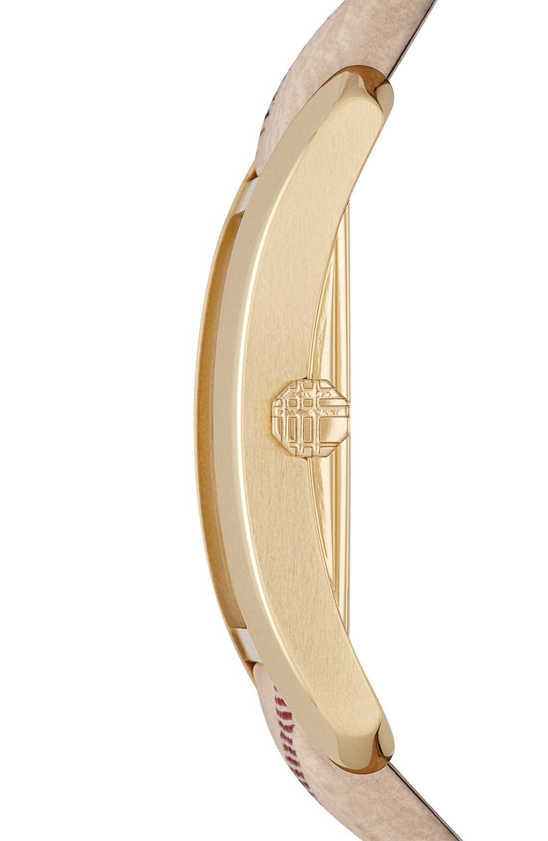 Alternate Image 4  - Burberry Rectangular Check Strap Watch, 20mm x 26mm