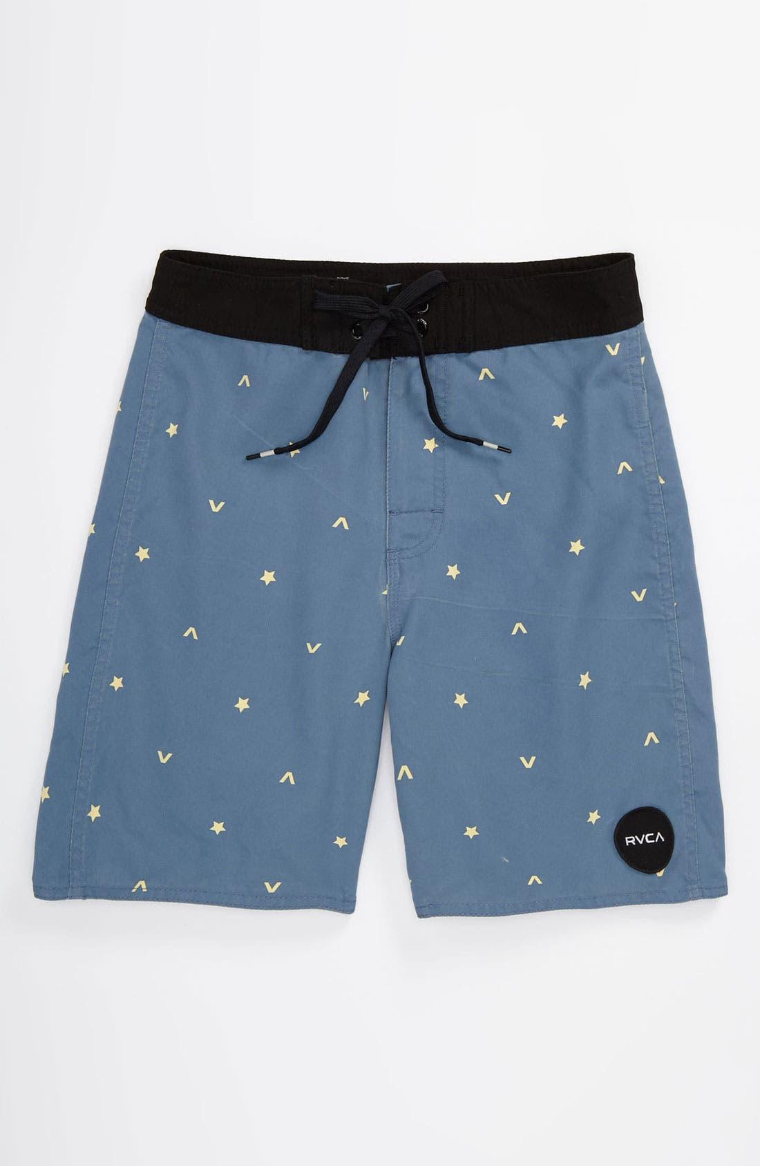 Main Image - RVCA 'Star' Swim Trunks (Big Boys)