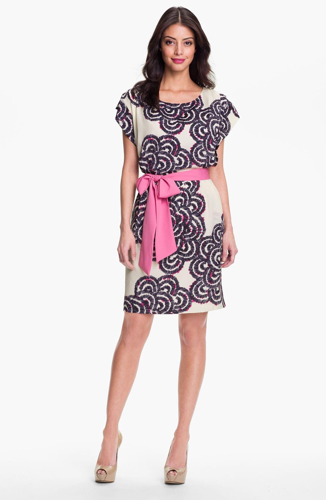 Alternate Image 1 Selected - Eliza J Print Blouson Dress
