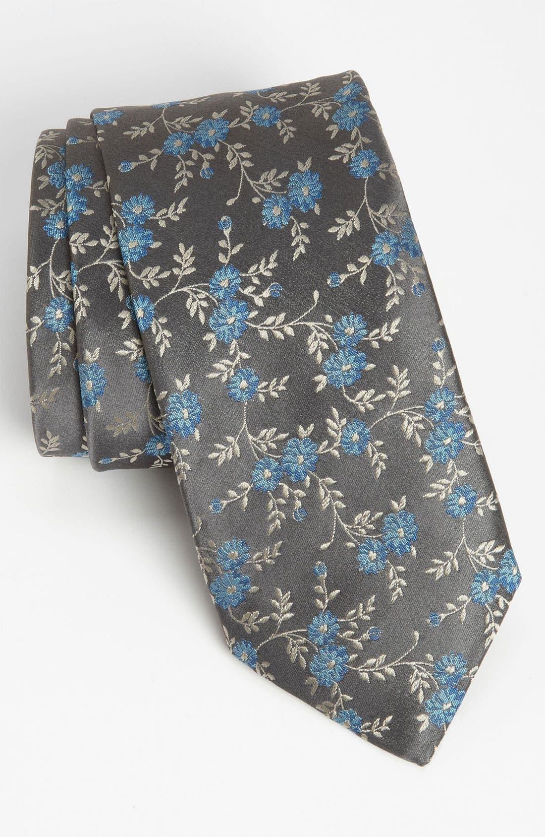 Main Image - Thomas Pink 'Frances Flower' Woven Silk Tie
