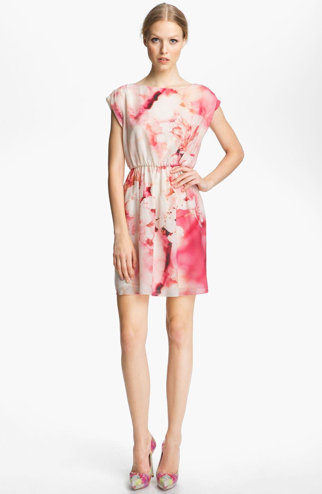 Alternate Image 1 Selected - Alice + Olivia Print Cap Sleeve Dress