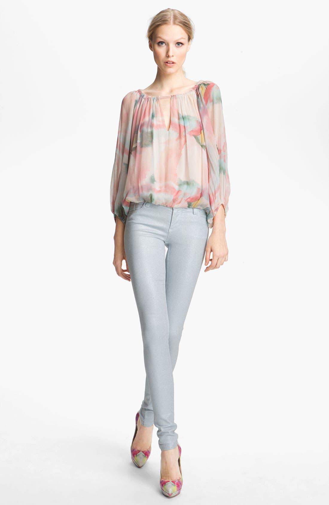 Alternate Image 4  - Alice + Olivia Glitter Skinny Stretch Jeans