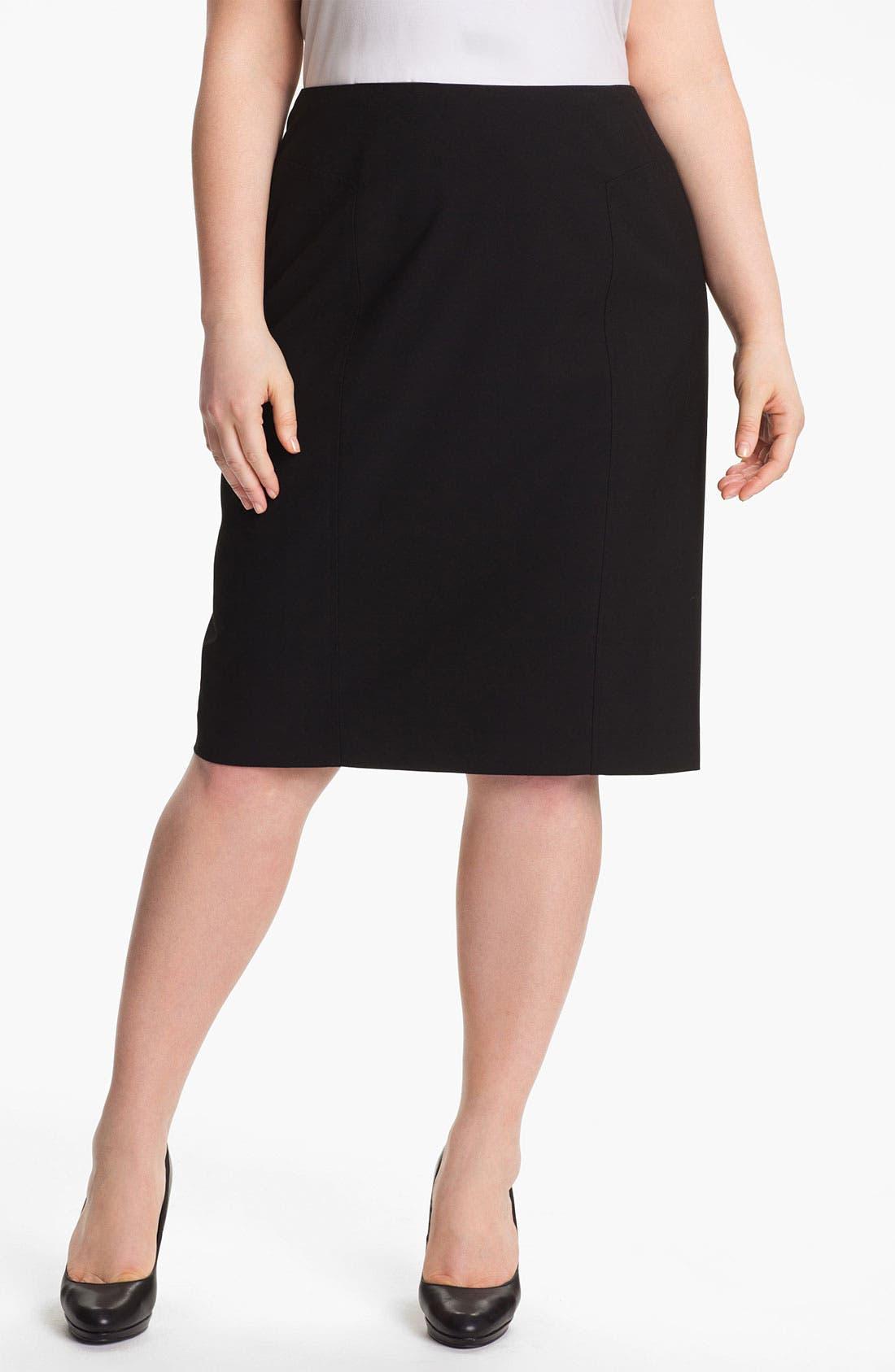 Main Image - Sejour 'Ela' Pencil Skirt (Plus Size)