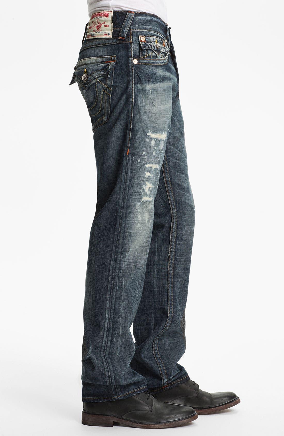 Alternate Image 3  - True Religion Brand Jeans 'Ricky' Straight Leg Jeans (Granite)