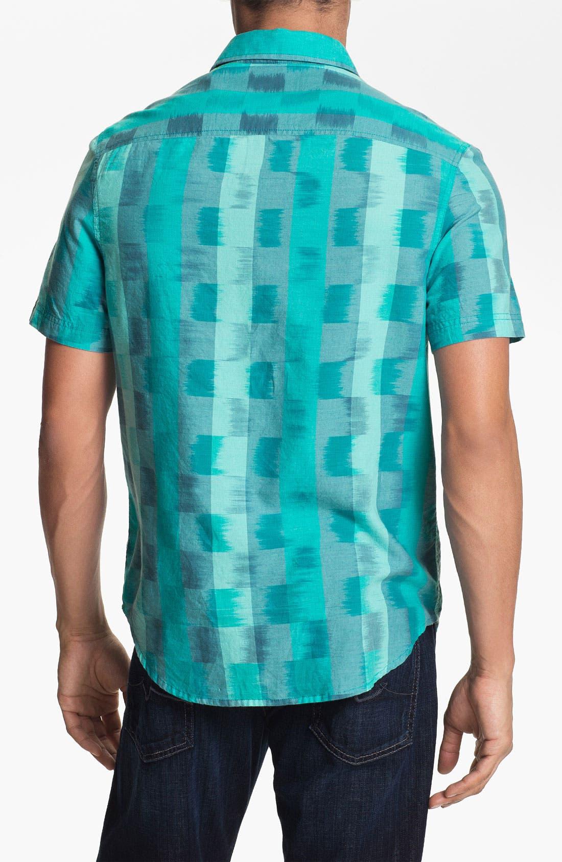 Alternate Image 3  - Original Penguin Ombré Check Woven Shirt