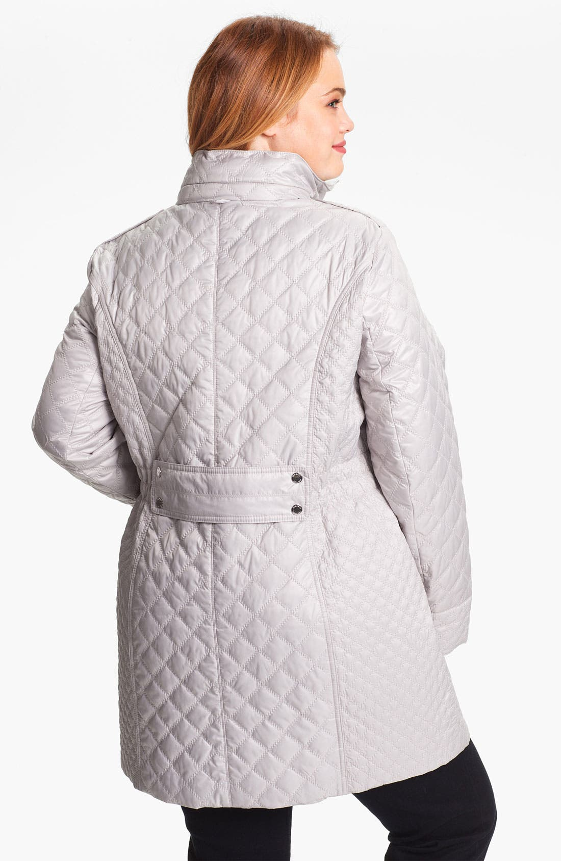 Alternate Image 2  - Laundry by Shelli Segal Packable Quilted Coat (Plus Size)