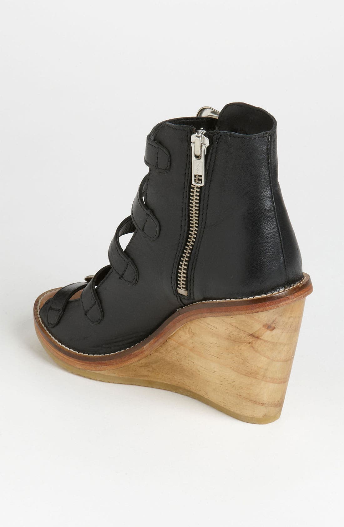 Alternate Image 2  - Topshop Western Buckle Wedge
