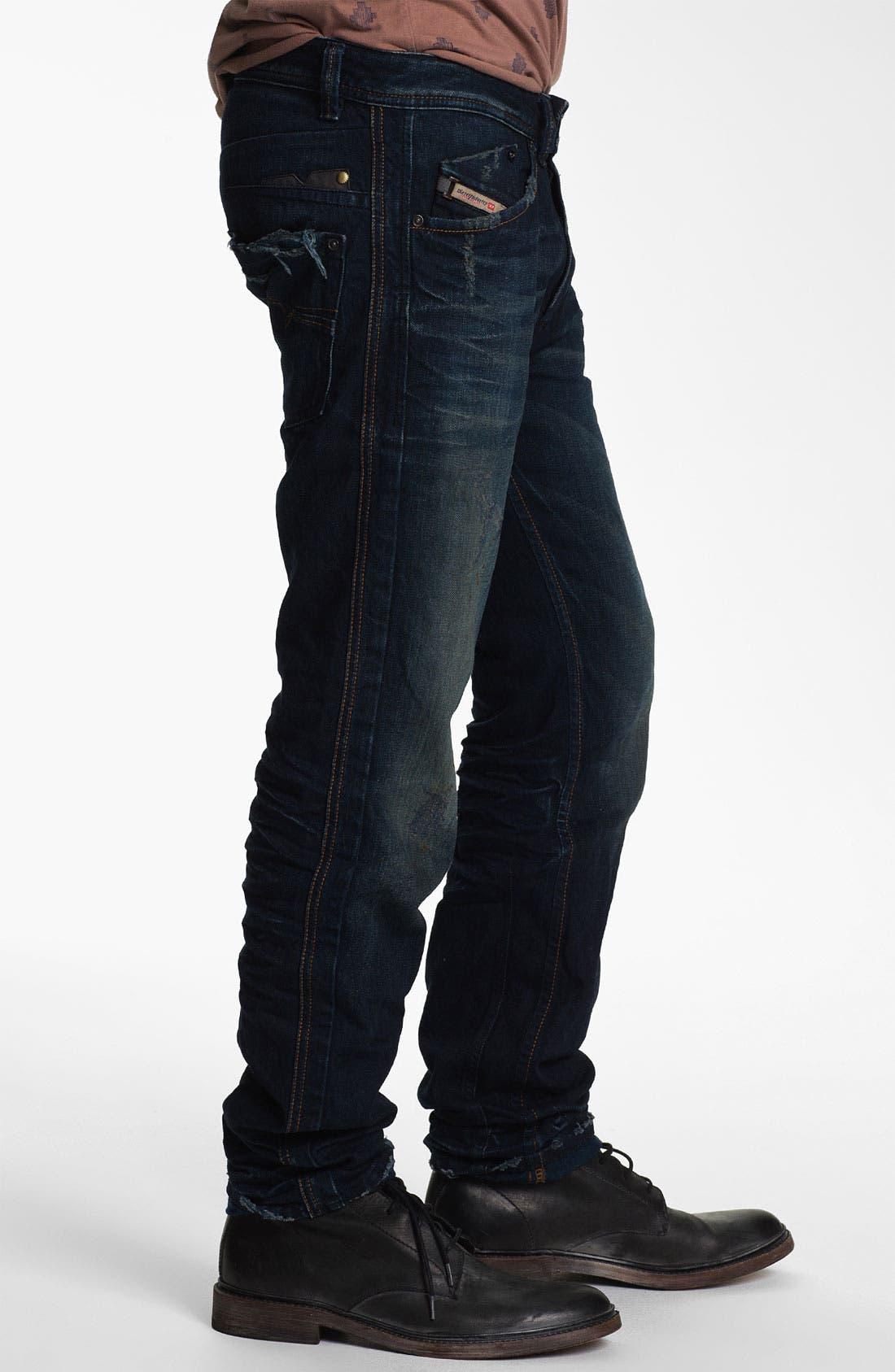 Alternate Image 3  - DIESEL® 'Darron' Slim Tapered Leg Jeans (0809V)