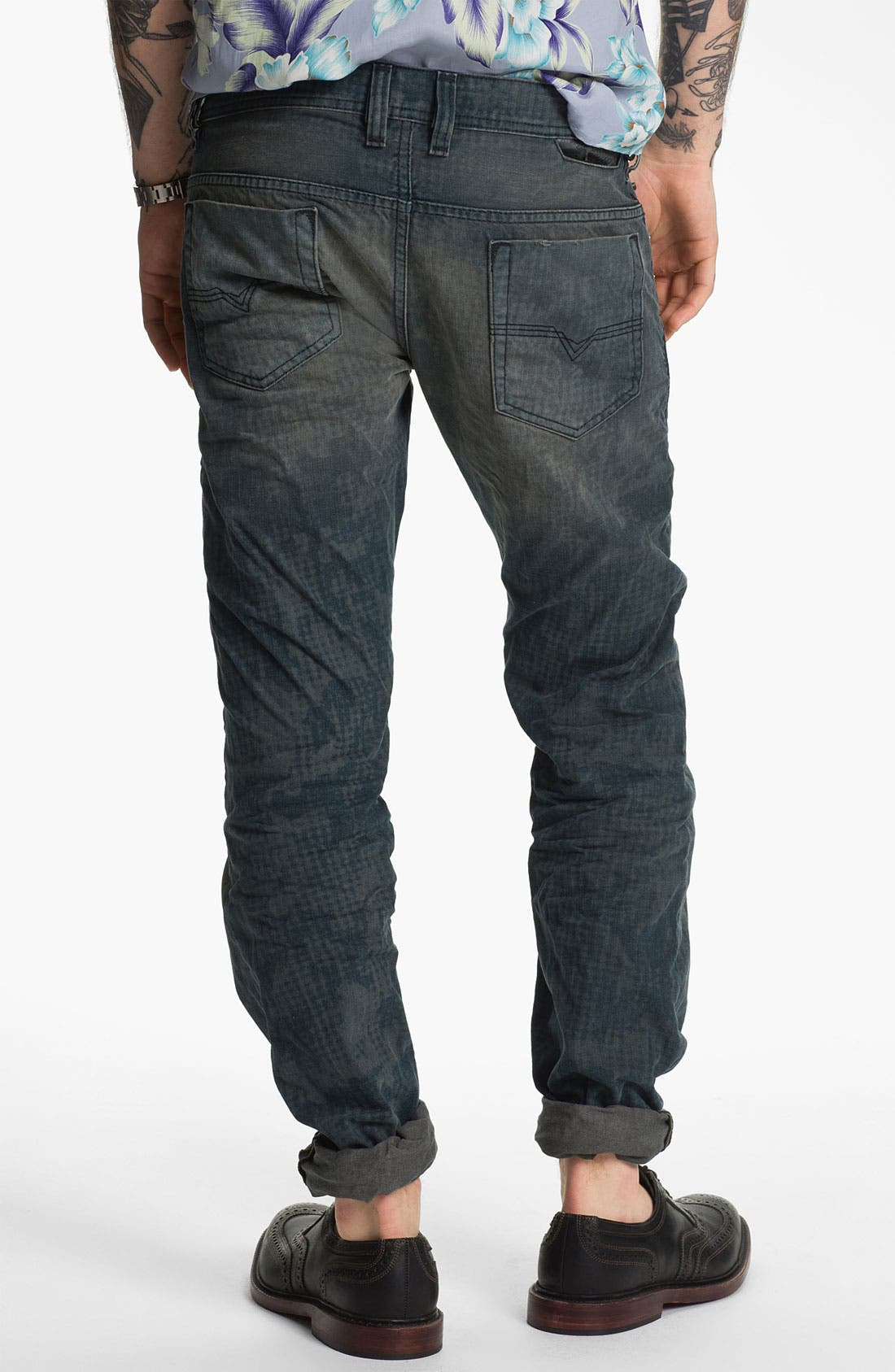 Alternate Image 1 Selected - DIESEL® 'Safado' Straight Leg Jeans (Electric Blue)