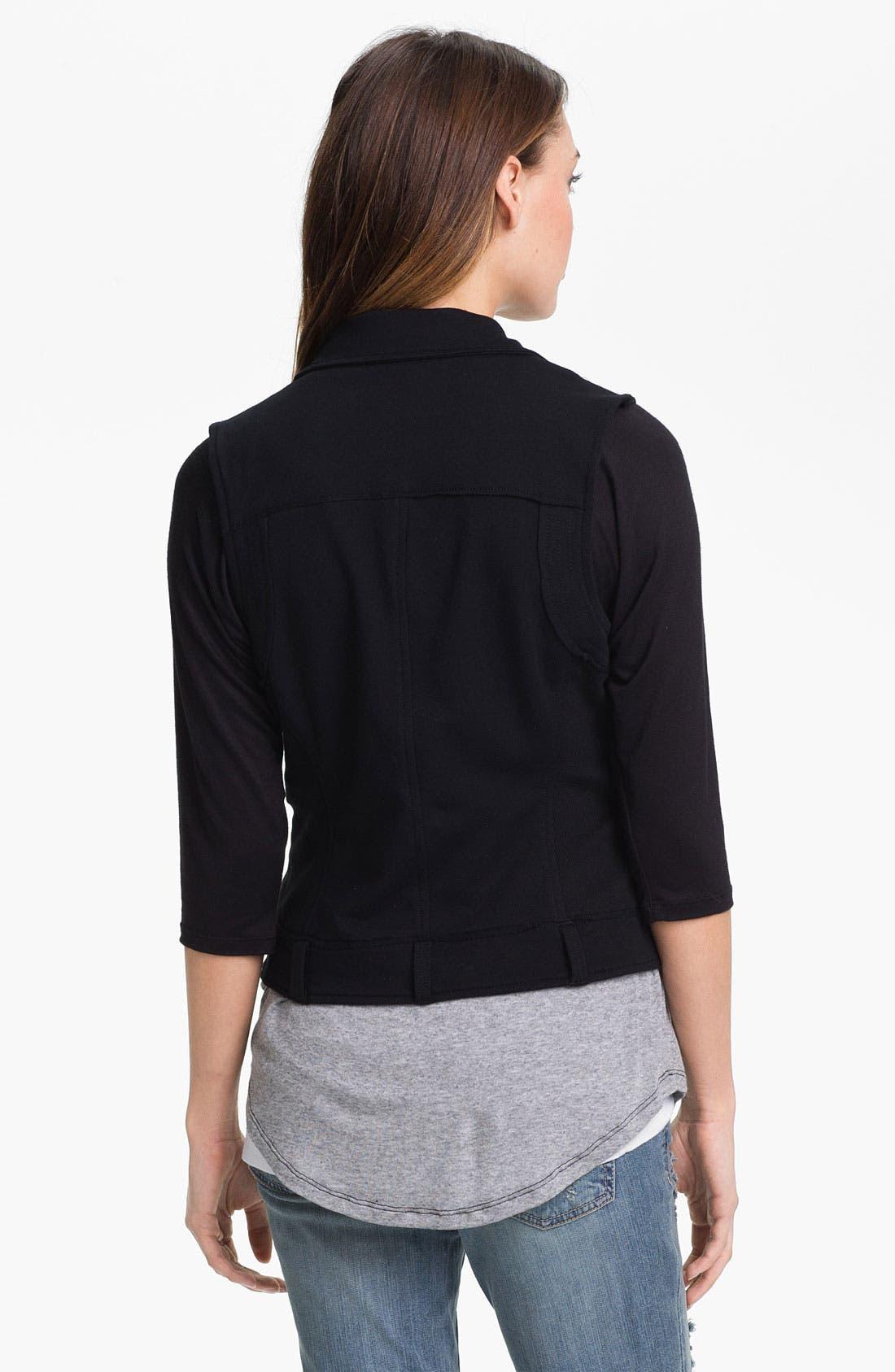 Alternate Image 2  - KUT from the Kloth Stretch Cotton Moto Vest