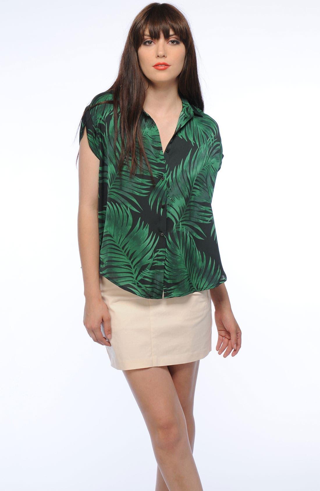 Alternate Image 5  - BB Dakota Palm Frond Print Shirt