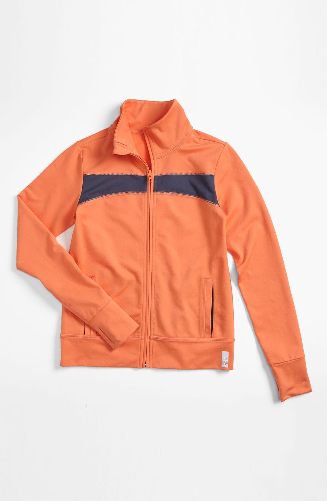 Alternate Image 1 Selected - Zella 'Trainer' Contrast Jacket (Little Girls & Big Girls)