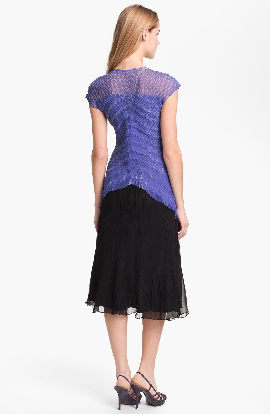 Alternate Image 2  - Black by Komarov Embellished Textured A-Line Dress