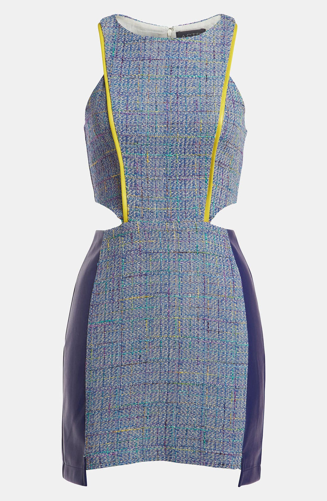Alternate Image 1 Selected - ASTR Mixed Media Tweed Dress
