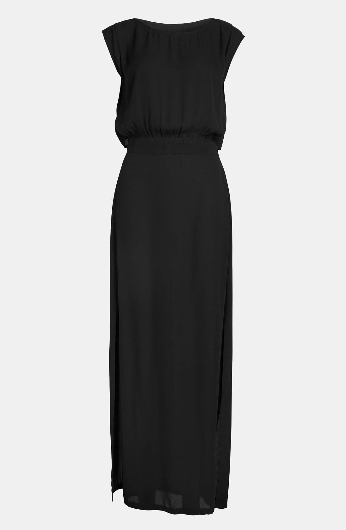 Main Image - Leith 'Sport' Silky Maxi Dress
