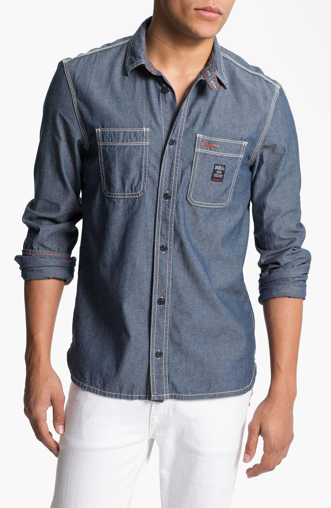 Main Image - DIESEL® 'Stepy' Chambray Cotton Shirt