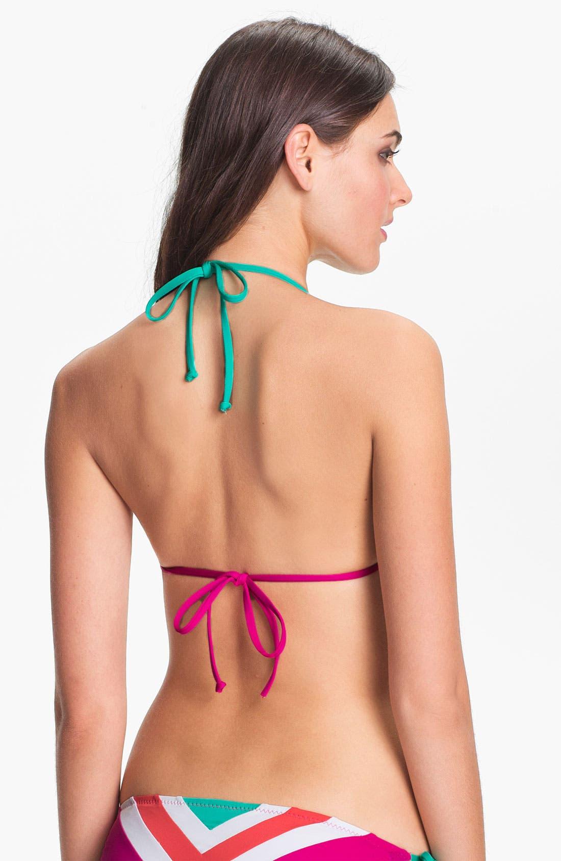 Alternate Image 3  - Becca Chevron Colorblock Triangle Bikini Top