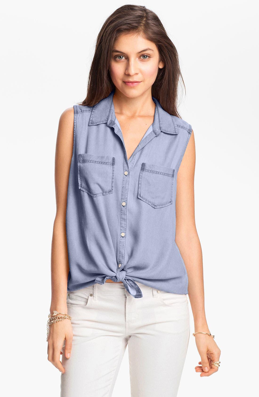 Alternate Image 1 Selected - Rubbish® Sleeveless Workwear Shirt (Juniors)
