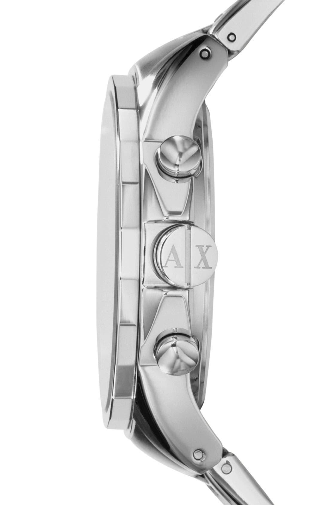 Alternate Image 3  - AX Armani Exchange Chronograph Bracelet Watch, 45mm