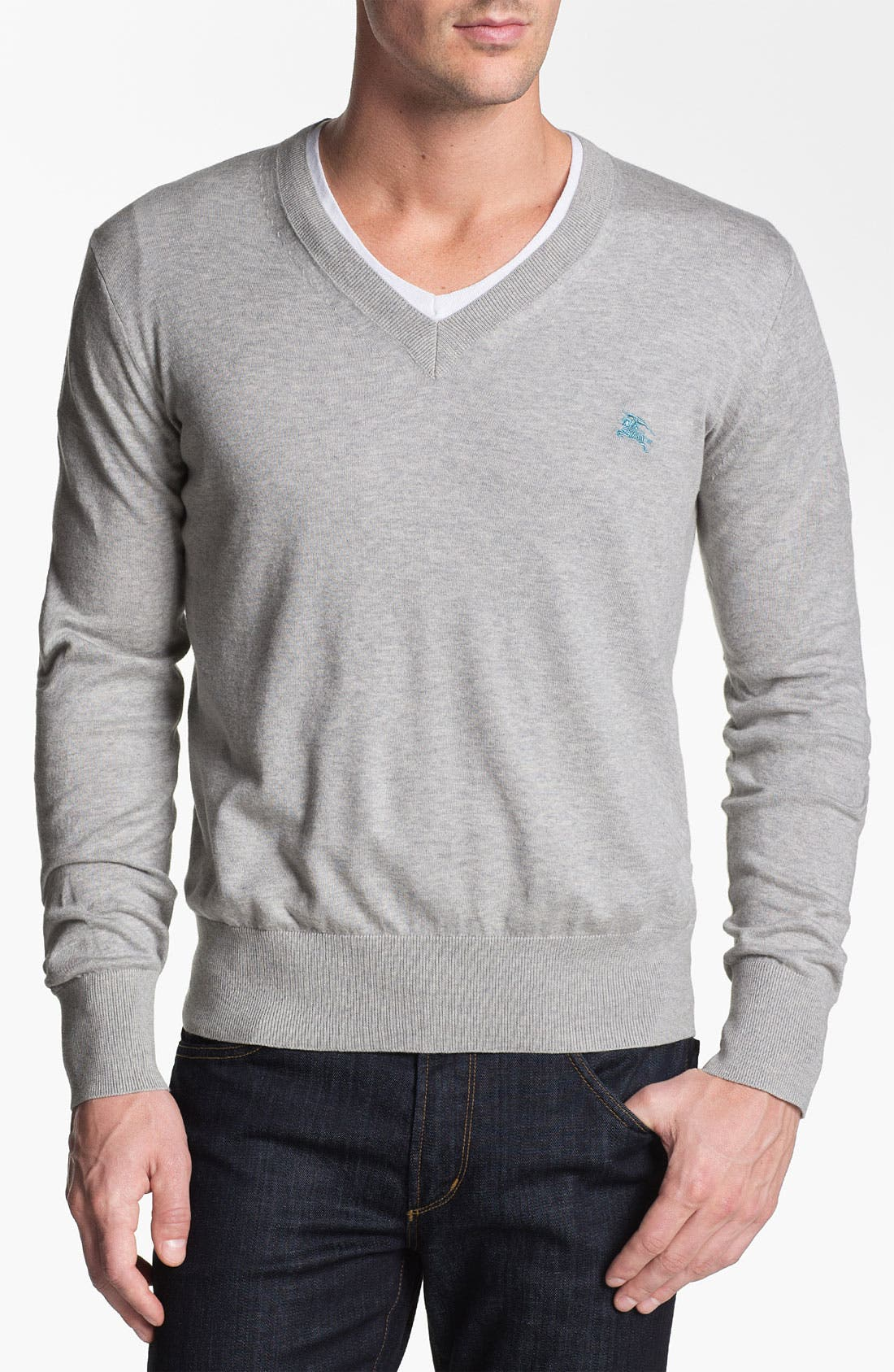 Main Image - Burberry Brit V-Neck Sweater