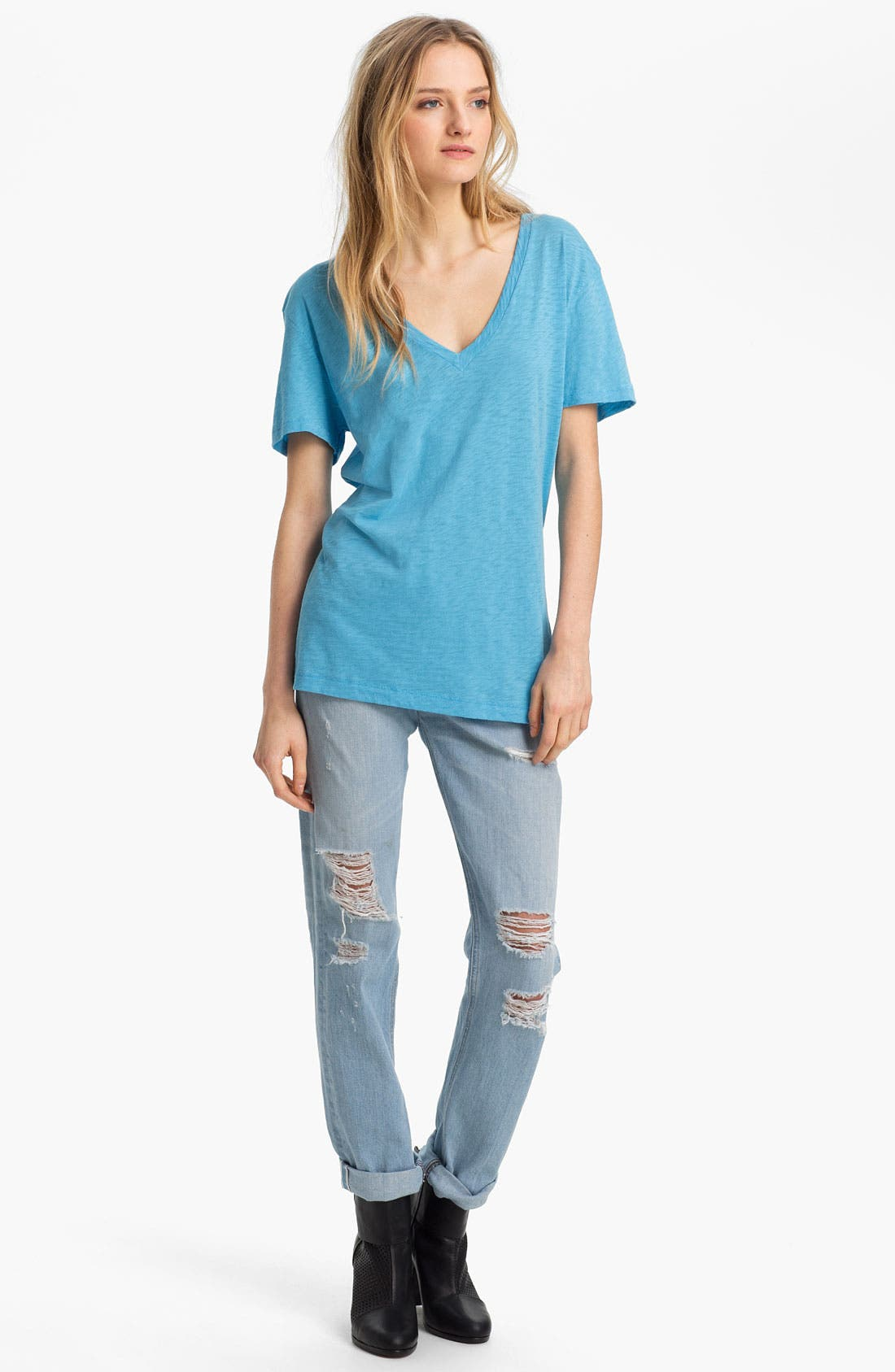 Alternate Image 5  - rag & bone/JEAN 'The Boyfriend' Selvedge Denim Jeans