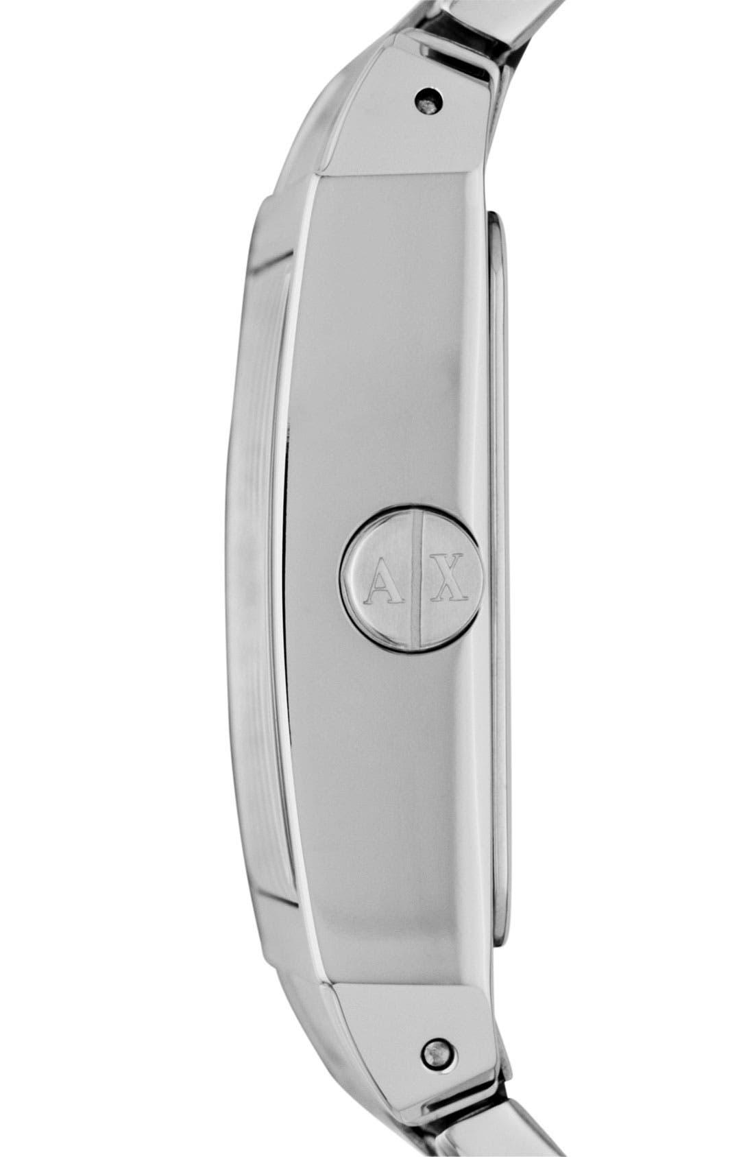 Alternate Image 3  - AX Armani Exchange Rectangular Bracelet Watch, 46mm x 43mm