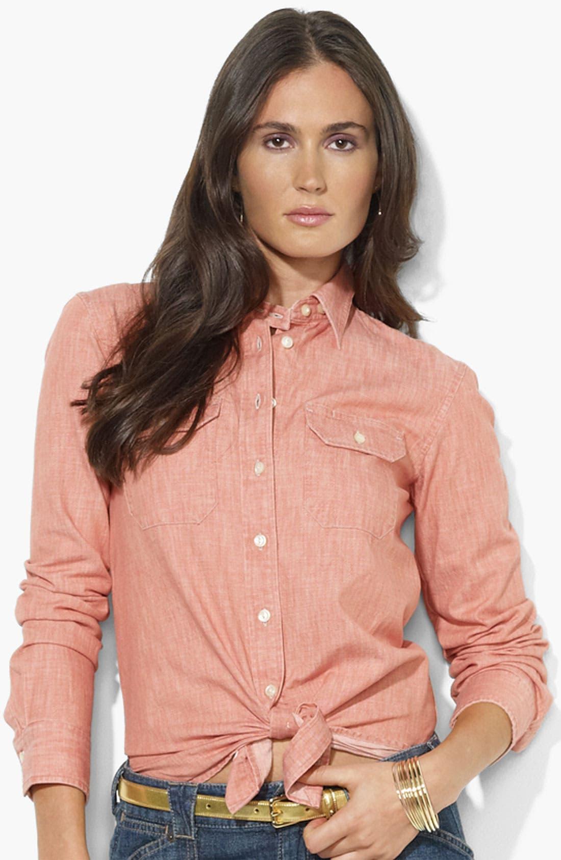 Alternate Image 1 Selected - Lauren Ralph Lauren Two Pocket Shirt