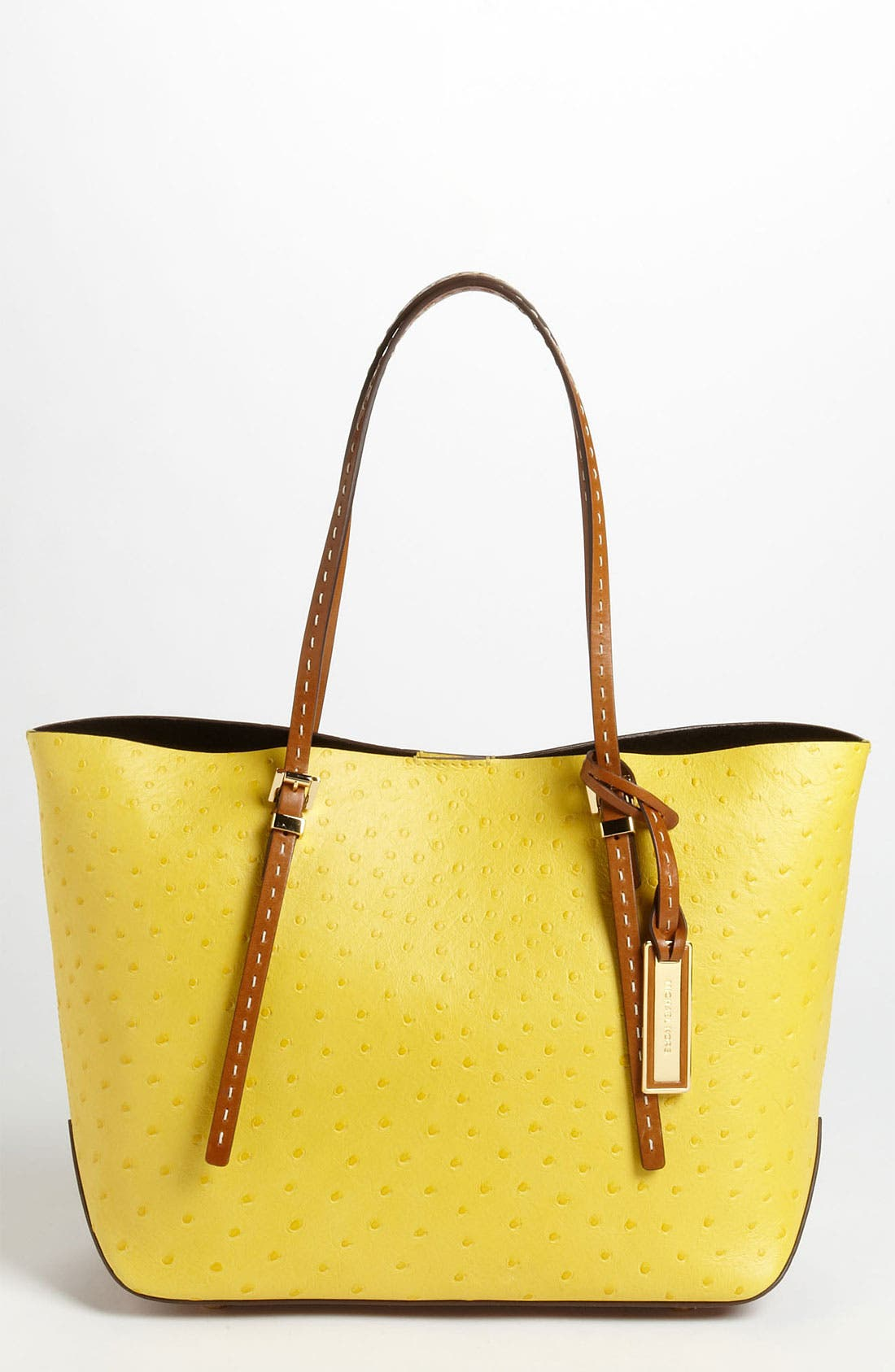 Main Image - Michael Kors 'Gia - Small' Ostrich Embossed Leather Tote