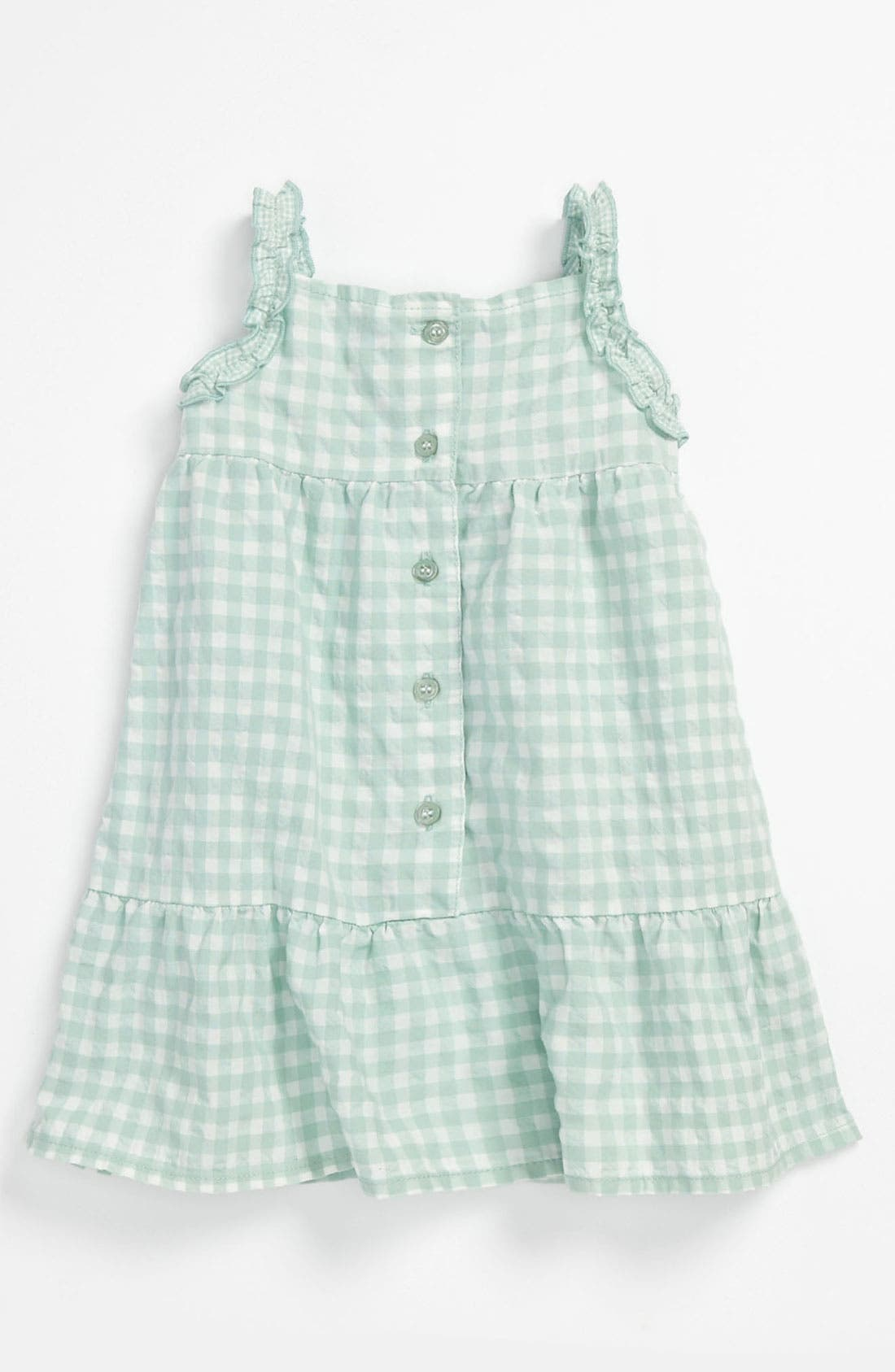 Alternate Image 2  - United Colors of Benetton Kids Gingham Dress (Infant)