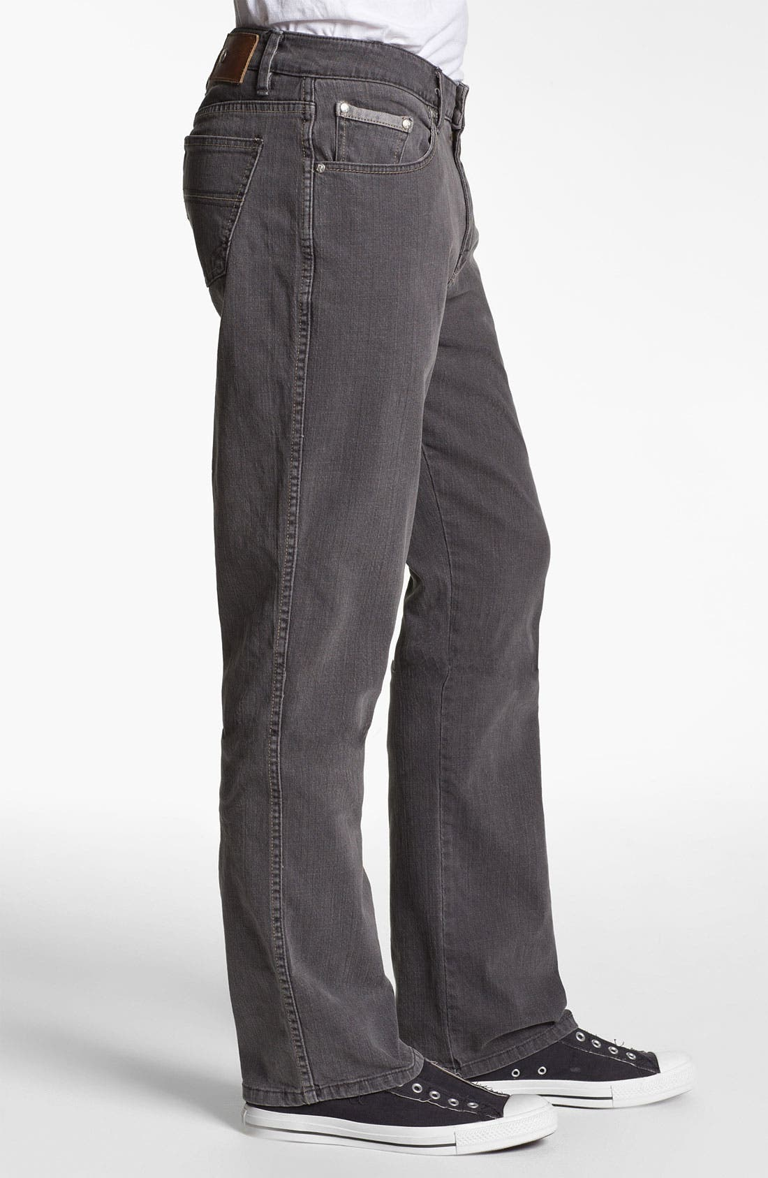 Alternate Image 3  - ROAD 'Abbey Stretch' Relaxed Fit Straight Leg Jeans (Smoke)
