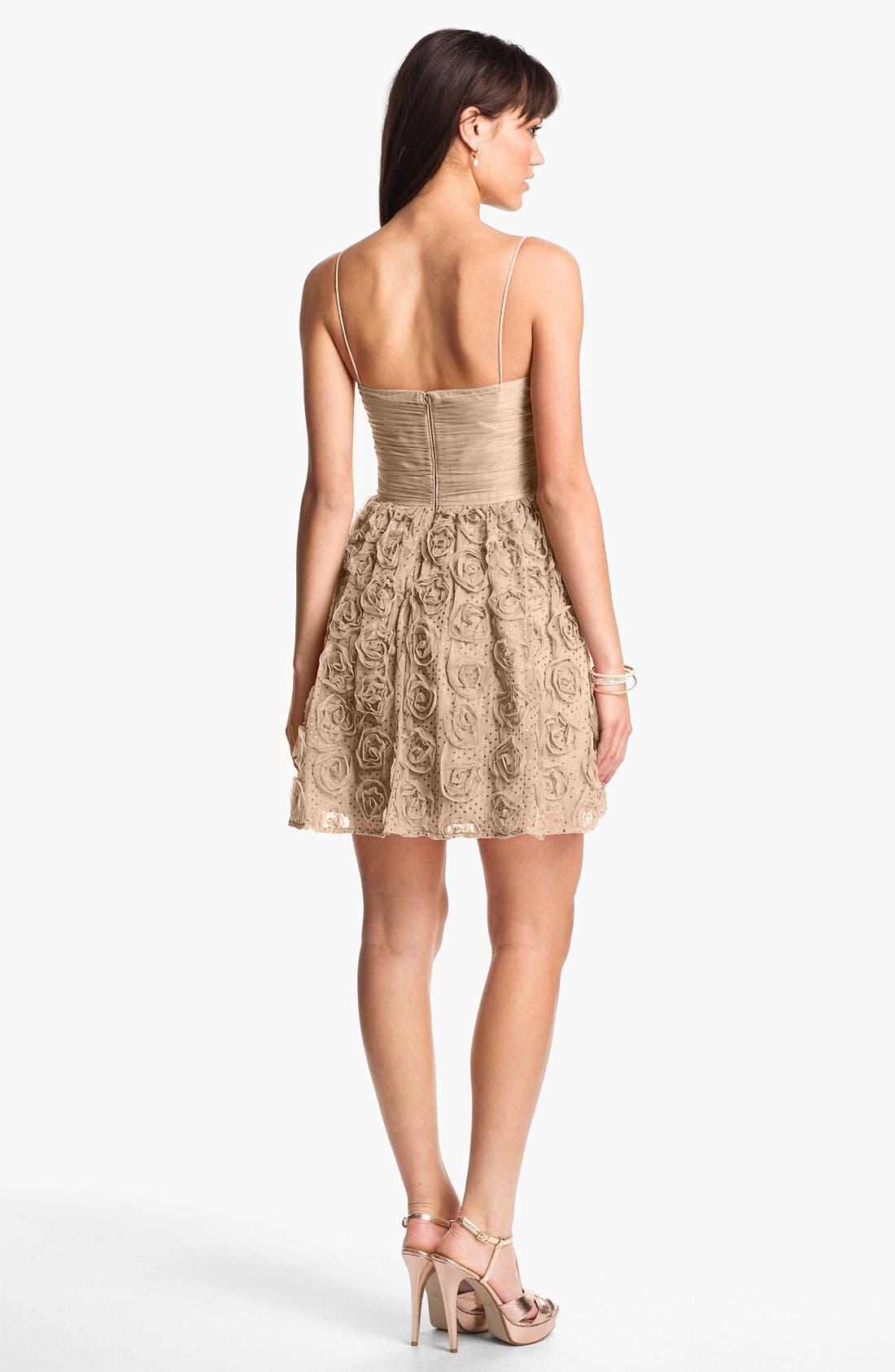 Alternate Image 2  - Hailey Logan Rosette Party Dress (Juniors) (Online Only)